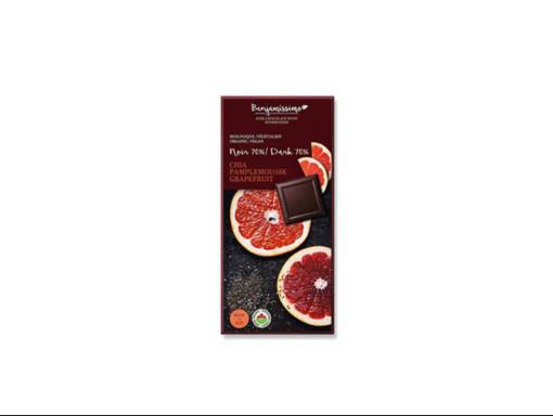 Tablette de Chocolat, Pamplemousse et Chia BIO 70% Vegan