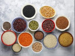 Pâtes, riz, légumineuses et grains